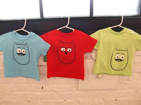 2T Owl Tshirt - Original Screen Print