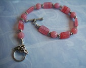 Shades of Pink Glass Bracelet