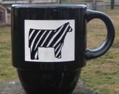 Trendy zebra show  steer coffee cup