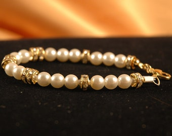 Crystal, Pearl Bracelet, Bridal, Pretty and Affordable