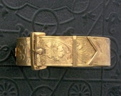 Early Coro Buckle Bracelet. Victorian Revival. Floral. Clamper.