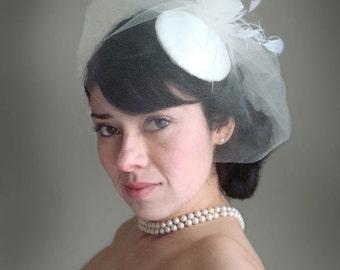 wedding hat, bridal hat, mini hat, bridal cocktail hat, bridal veil hat, bridal veil, feather fascinator hat, feather fascinator,