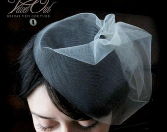 Blusher veil, Birdcage veil, mini tulle veil, Birdcage tulle veil, birdcage veil, mini veil, cap veil, tulle veil, fitted veil,