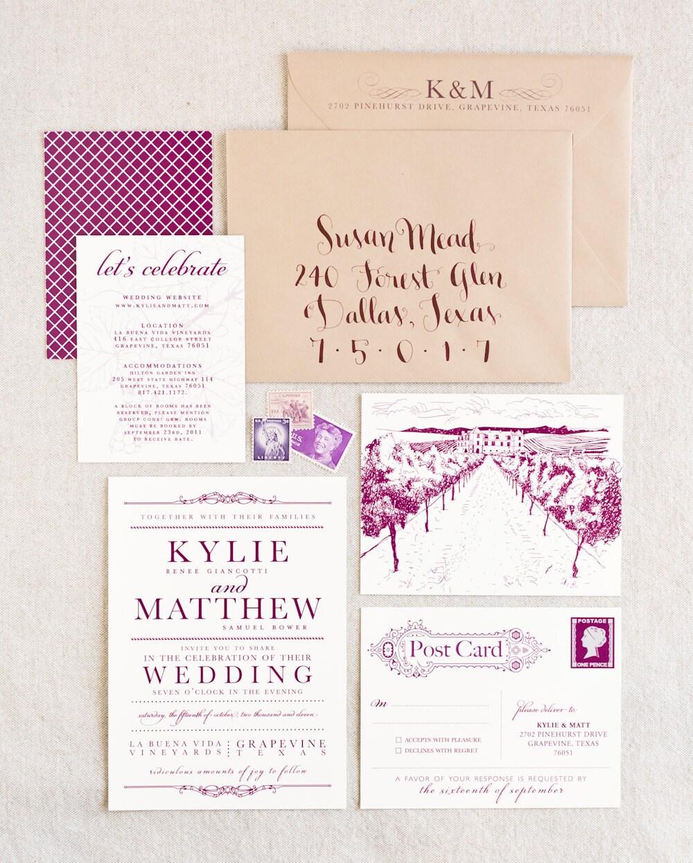 vineyard wedding invitations. special vineyard wedding invitations, Wedding invitations