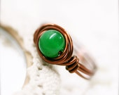 Bilü Chinese jade wire wrapped ring (SR)