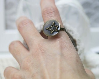 Wish upon a star wire wrapped ring