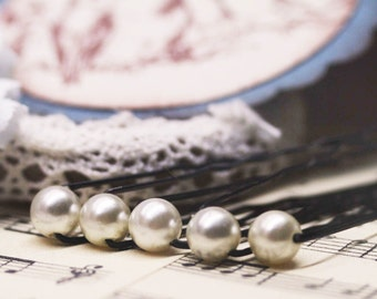 PIF 5 faux pearl hair pins