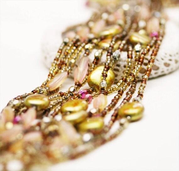 Golden oriental lariat x 3