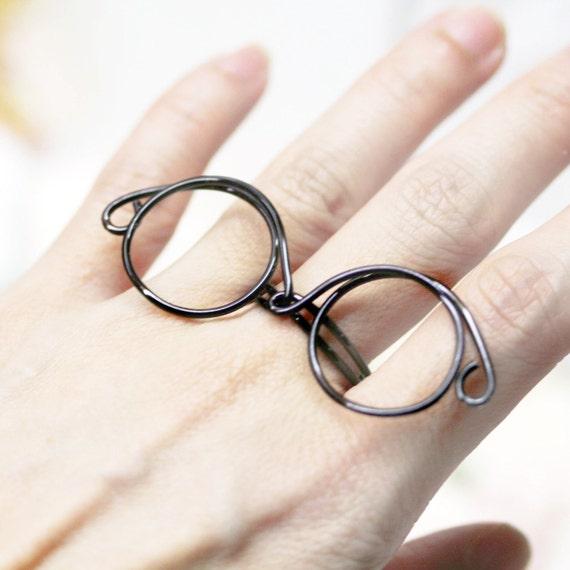 John Lennon glasses frame 1980 wired ring
