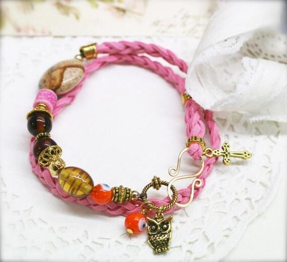 Resourcefulness - double wrap braided bracelet