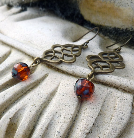SALE - Orange  Marakesh  Earrings