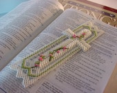 EASTER CROSS Bookmark in Plastic Canvas