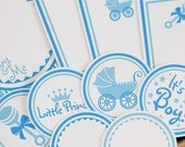 Baby and Me Tags - Set of 12 - Blue