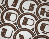 Custom Order for mewantelfears - 2 full sets of Brown ABC's ALPHABET Dots