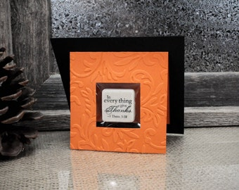 Thanks Scripture Stone Tile Magnet Gift Card or Placecard