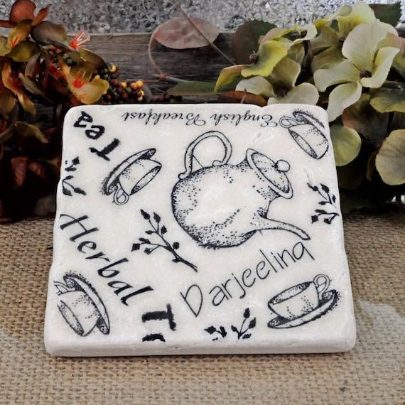 Time for Tea  Absorbent Stone Tile Drink Coaster