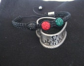 Good Luck Crystal Pave Ball Macrame Bracelet