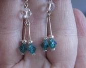 Swarovski Crystal Dangle Earrings OOAK