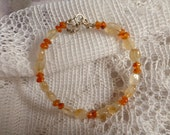 Beautiful Amber and Citrine Bracelet