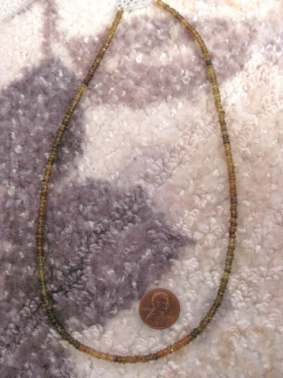 Watermelon Tourmaline Bead Necklace