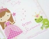 Printable Valentine Princess 3.5x5 Cards