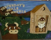 Wooden Cow Sign