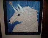 Unicorn Magic wood picture