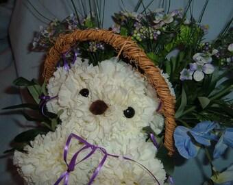 Snowball Puppy Bouquet