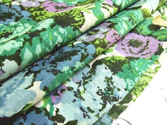 6 Plus Yards Vintage Linen Fabric 1950s