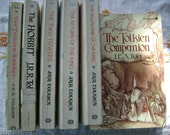 Six JRR Tolkien The Hobbit and Lord of the Rings Vintage Paperbacks