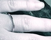 very thin sterling SILVER ring handmade 1mm full round smooth simple organic skinny classic dainty tiny little stacking or Wedding band