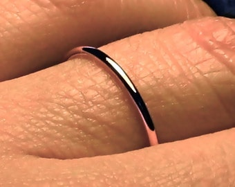 Rose gold wedding band, Rose gold band, Thin wedding band, Mila Kunis ring, dainty wedding band, womens wedding band, solid 14k rose gold