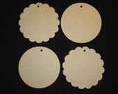 4 inch CIRCLE COASTER Bare Chipboard Album (Do It Yourself Project) 4pc