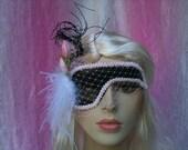 Sweet Petite Black and Light Pink Half Mask - Masquerade