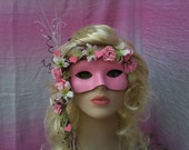 Roses and Hearts, Valentine, Prom, Mardi Gras, Wedding, Spring, Masquerade Mask, Photo Prop