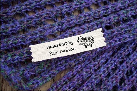 Knitting Labels Personalized : Personalized knitting labels sheep