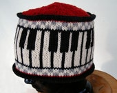 Red Piano Key Cossack Hat