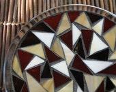 "Mosaic Trivet candle plate candle holder home decor ""Lava"""
