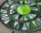 The Green Machine, Large Mosaic Trivet (reserved listing)