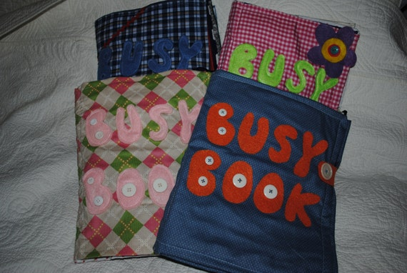 CHILDREN'S  BUSY BOOK soft quiet book felt activity pages buckle book