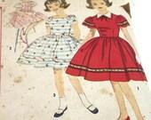 Vintage  1950 Simplicity Girl's Dress Pattern Size 8, 3292