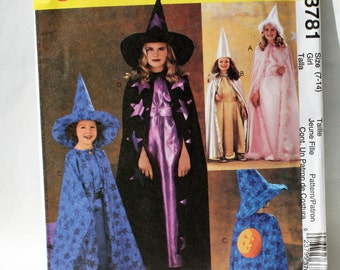 McCall's 3781, Sewing Pattern, Girl's Size 7 to 14, Magical Costumes, Easy Sew Pattern, UNCUT, FF, Internaitonal Shipping