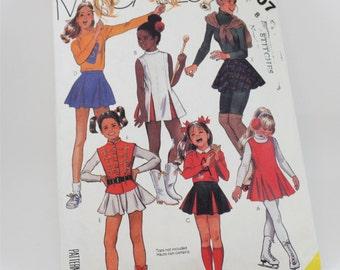 Vintage 1980s, McCall's  2007,  Girls', Size 8 Costumes, Cheerleader suit, Majorette Suit, Skating Outfit, Drum Majorette