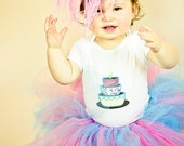 Take the Cake Tutu Set----Infant- 4/5--- Great for Birthdays, or Photography