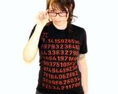 Ladies Pi T SHIRT - Math American Apparel Shirt - Black tee - s, m, l, and xl (Complimentary Shipping)