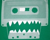 Cassette Monster - American Apparel TShirt - FREE SHIPPING - Kelly Green - Available in xs, s, m, l, xl and xxl