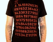 Pi Math Geek T-Shirt - American Apparel - Black Shirt - Available in XS, S, M, L XL, XXL