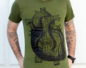 Mens Anatomical Heart TShirt - American Apparel - Custom Colors available