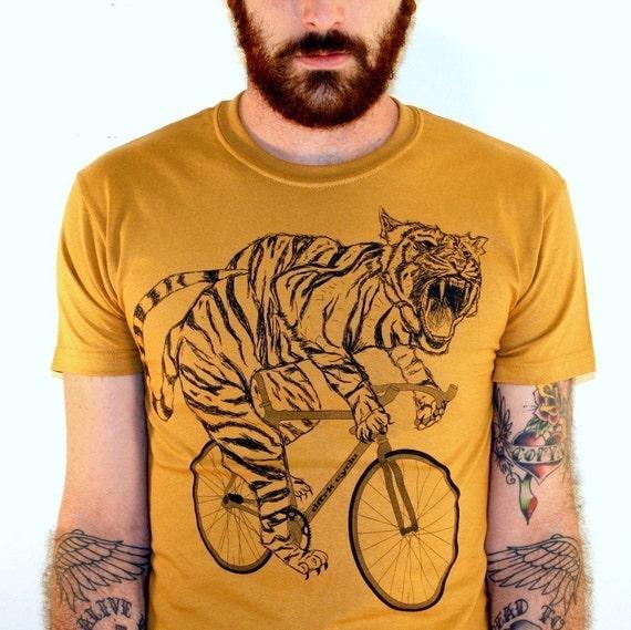 tiger on a bike t shirt camel bike shirt size s m l xl. Black Bedroom Furniture Sets. Home Design Ideas