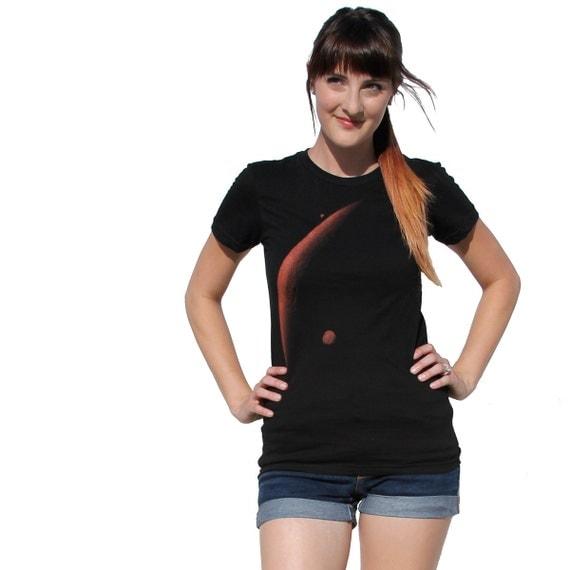 Womens mars t shirt space shirt american by darkcycleclothing for American apparel custom t shirt printing